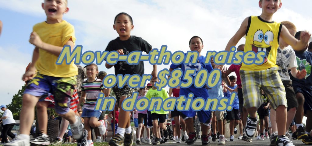 Move-a-thon raises over $8500 in donations!