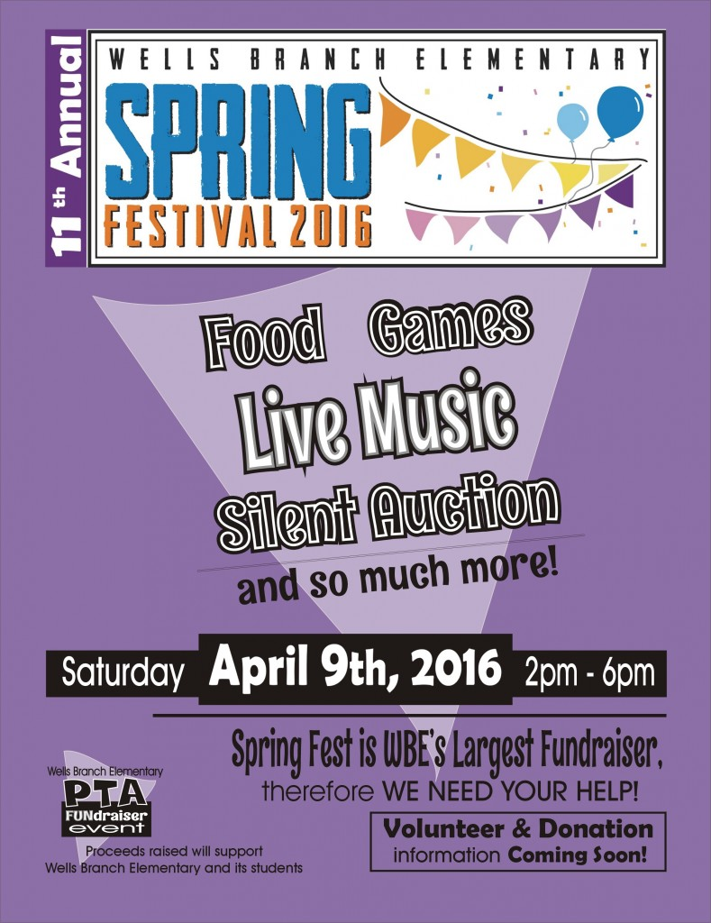 F1 - Announcement WBE SpringFest - 2016