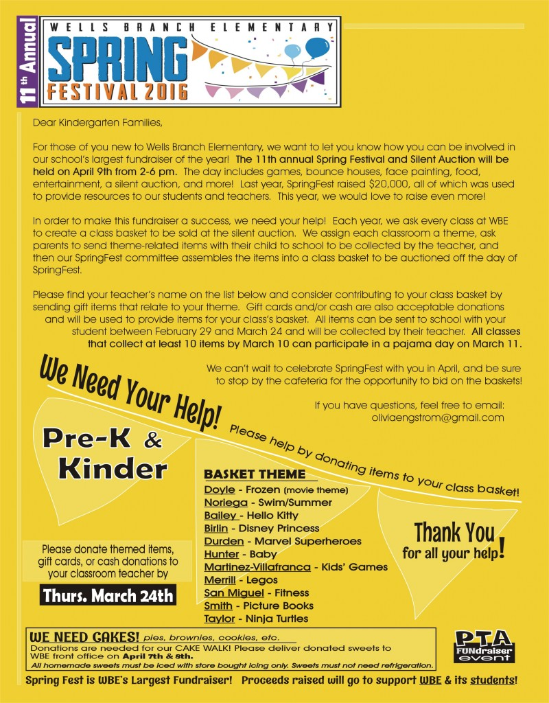 Kinder Grade Level Flyer 2016